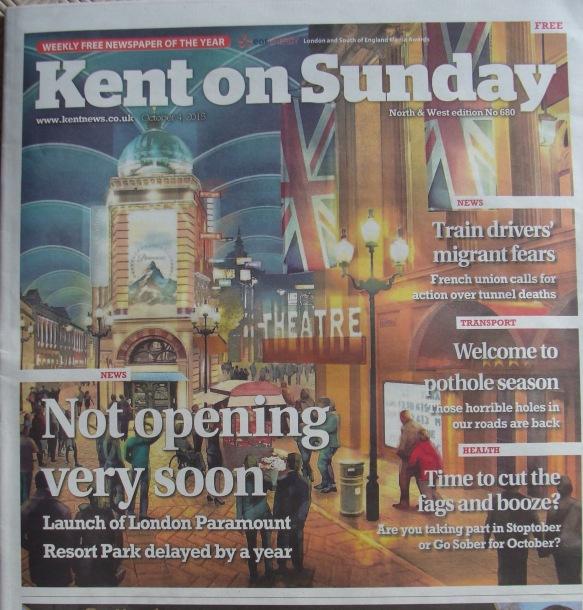 London Paramount Planning application delayed until summer 2016